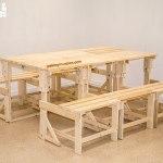 sillon mesa hecho de tablas de palets