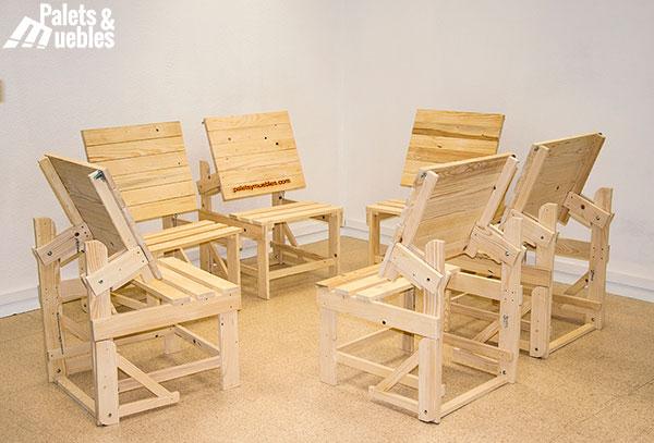 banco mesa de palets ampliable - Mesa Con Palets