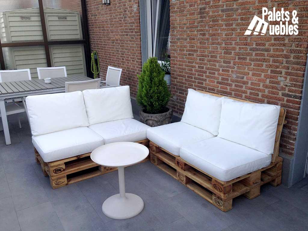 Sof de palets para chill out palets y muebles - Muebles chill out exterior ...