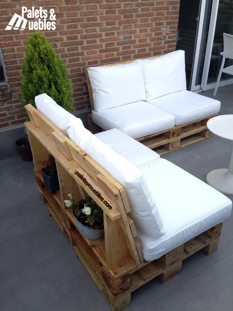Cojines para sillones de palets affordable perfect for Sillones para exterior con palets