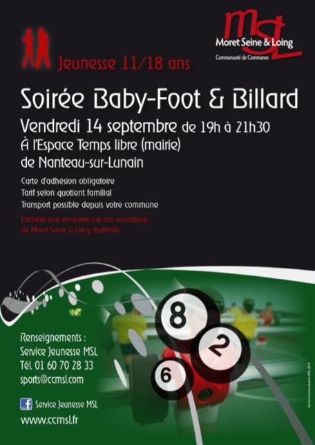 Soirée Baby foot billard 140918