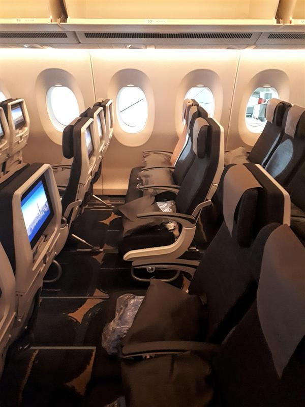 China airlines economy seat