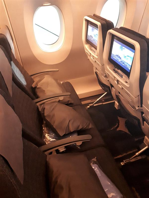 china airlines seat width