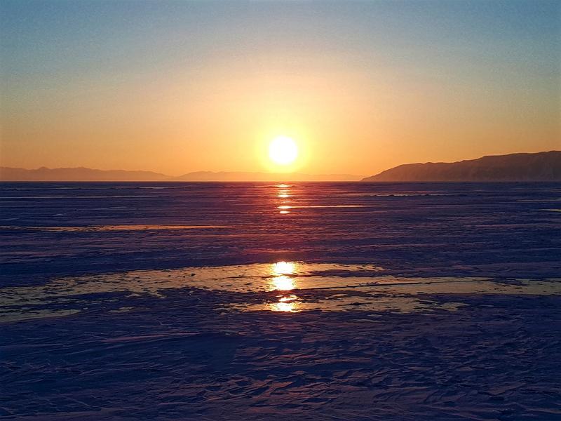 lake baikal sunset