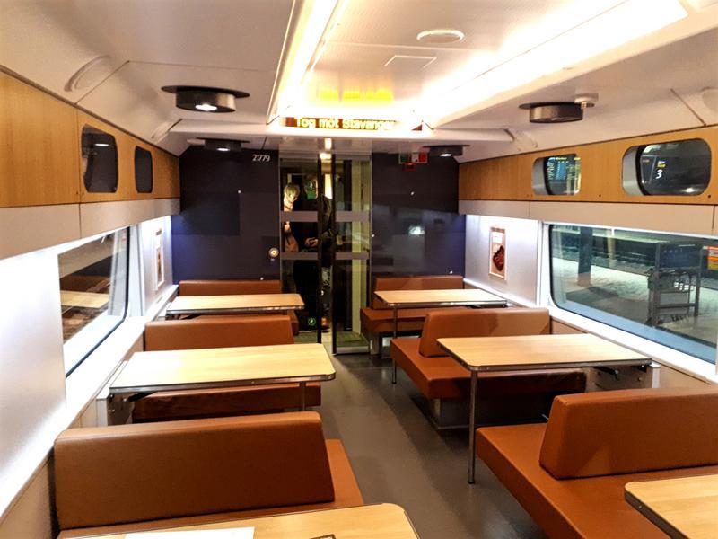 norwegian train restaurant wagon