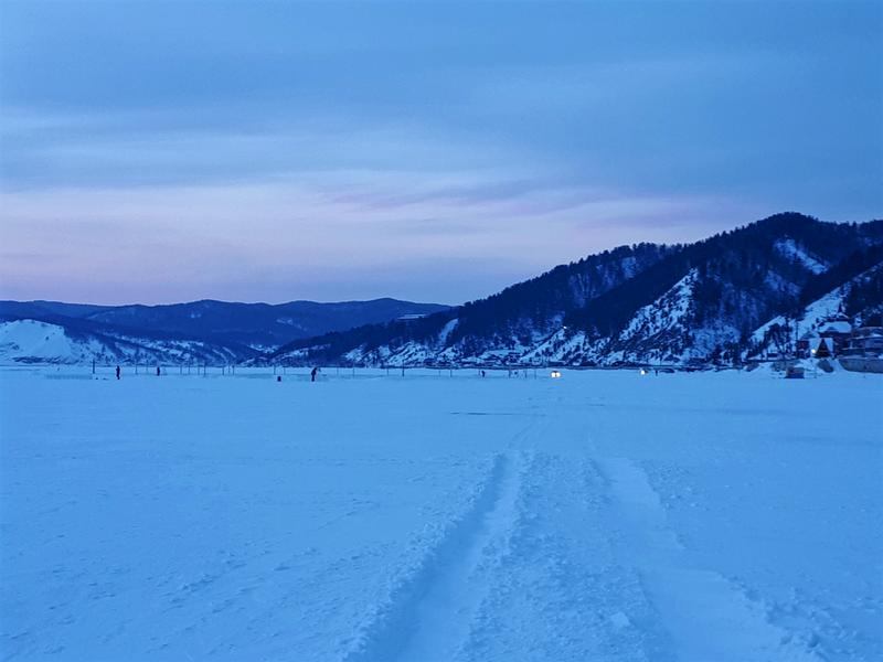 Lake Baikal sunset winter trip report