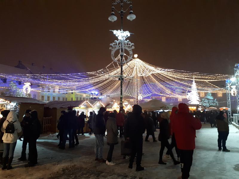 christmas market lights sibiu