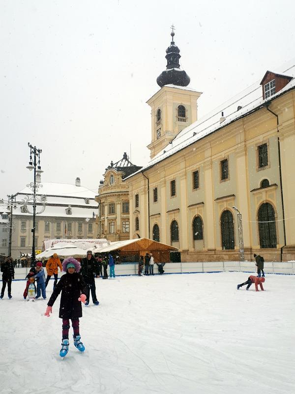 sibiu ice rink christmas market