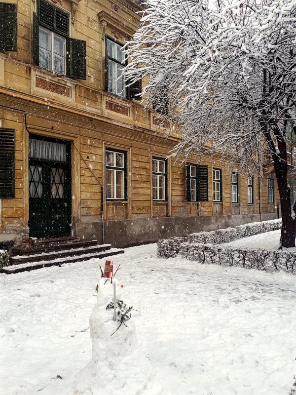 sibiu snowman