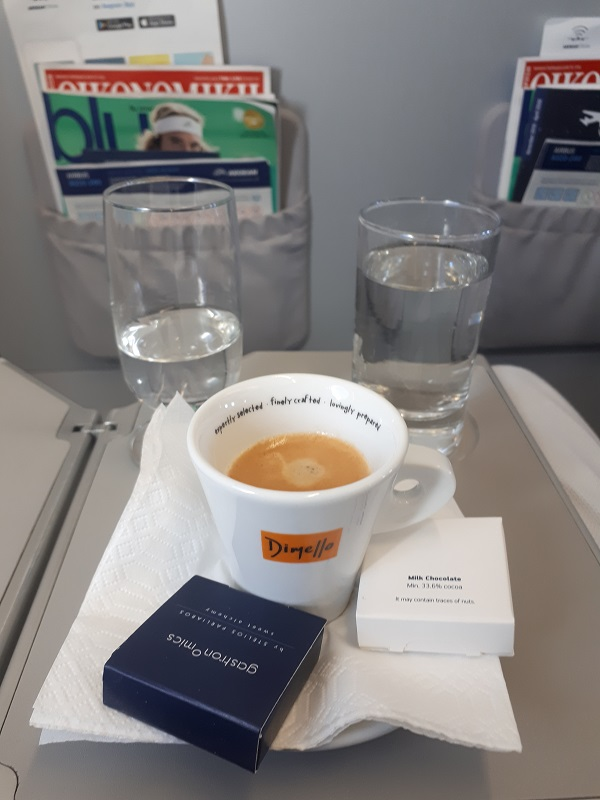 aegean espresso mastiha upgrade bid challenge business class
