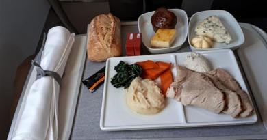 meal food air france business class amsterdam paris