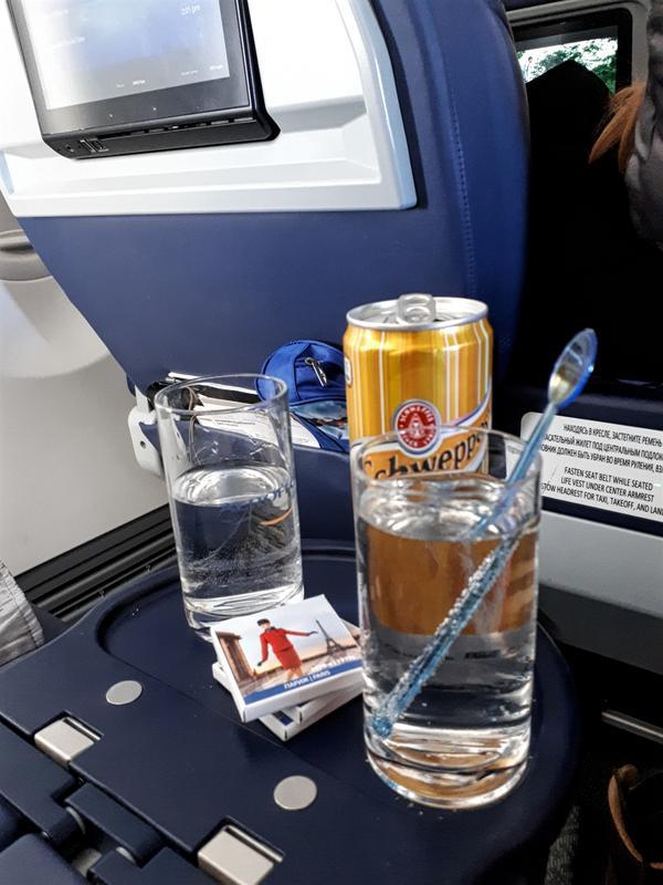 aeroflot gin tonic business class review