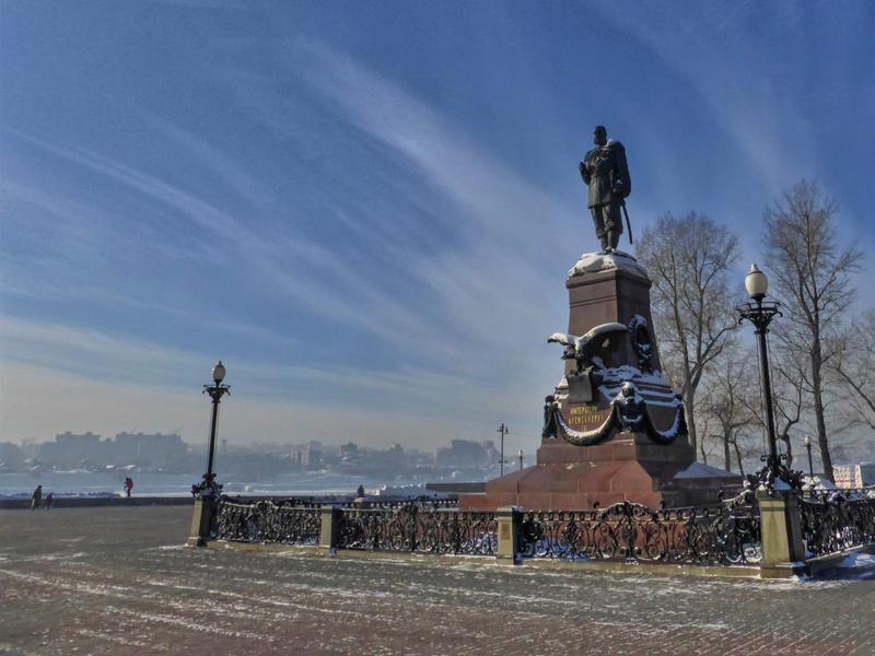 czar statue irkutsk angara river trip report guide winter