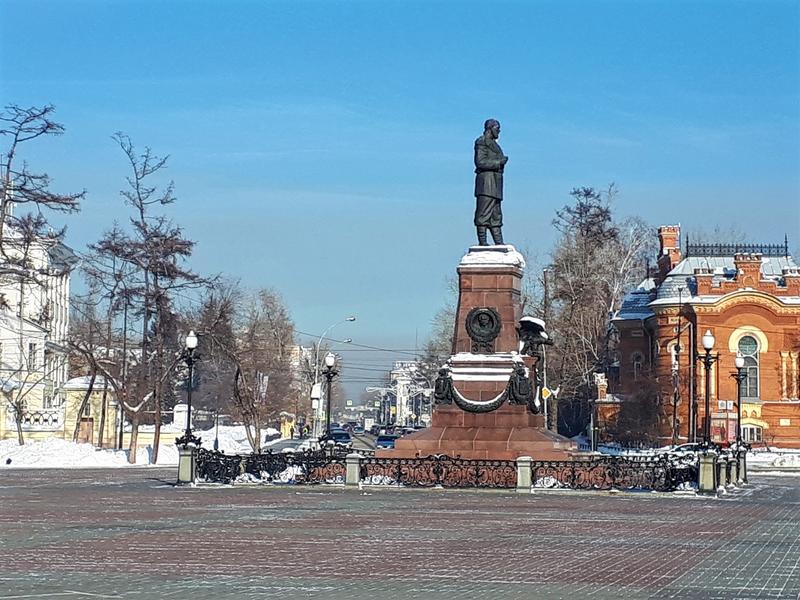 irkutsk czar statue alexander