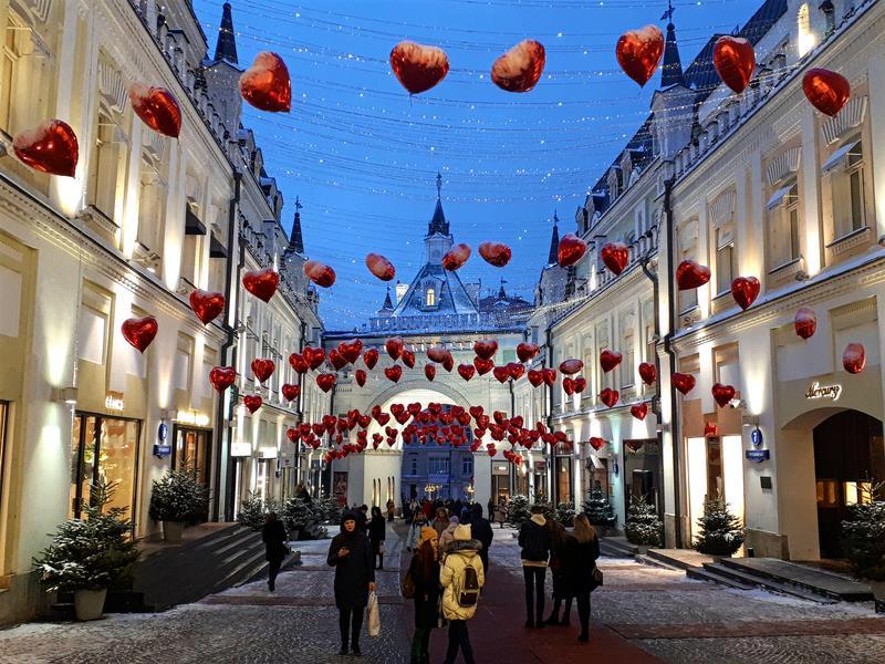 hearts red square nikolskaya walk moscow