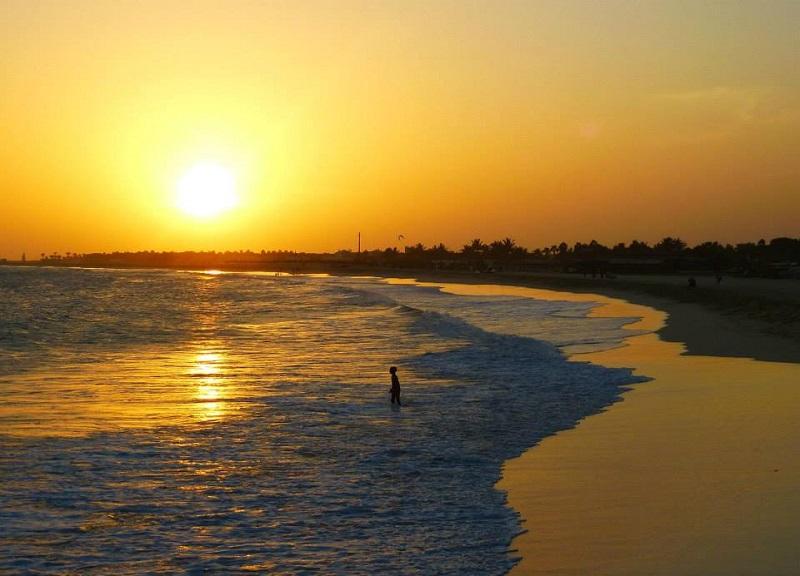 sal santa maria beach sunset cape verde