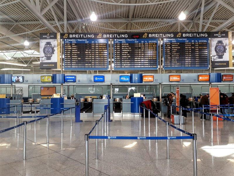 check in desks terminal athens airport flight delay compensation
