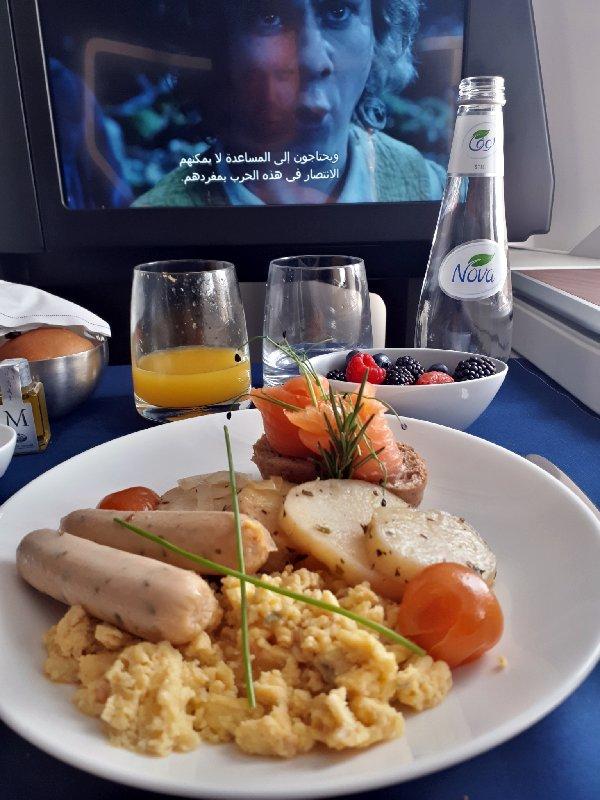 breakfast saudia business class