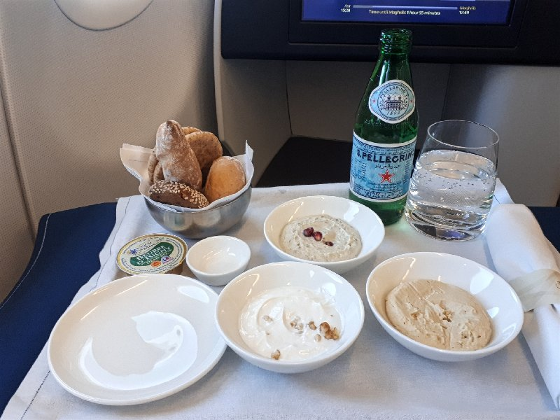 arabic mezze saudia review a320 business class
