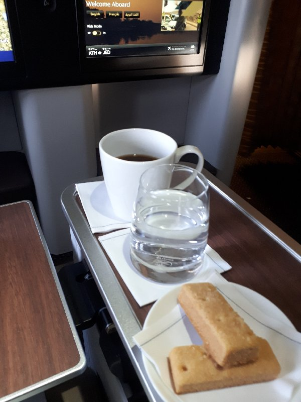 saudia coffee refill business class review a320