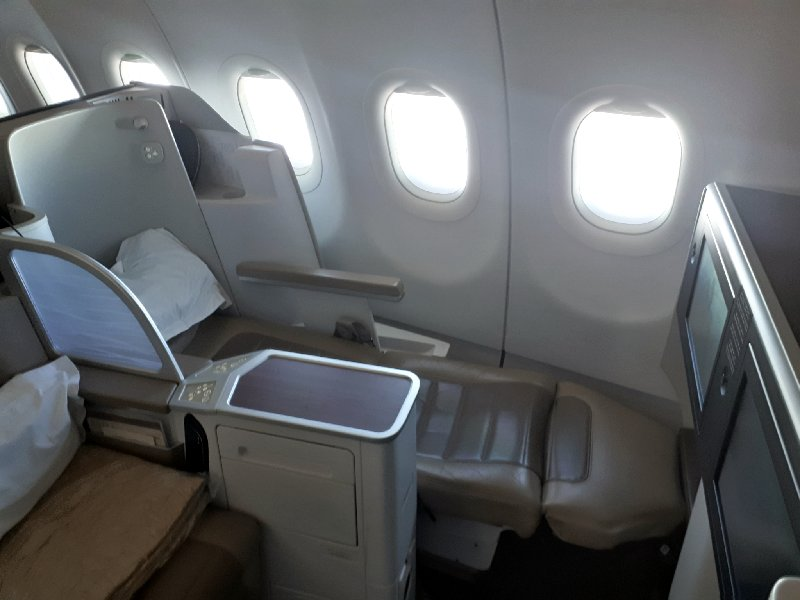 saudia airbus a320 business class flat seat review