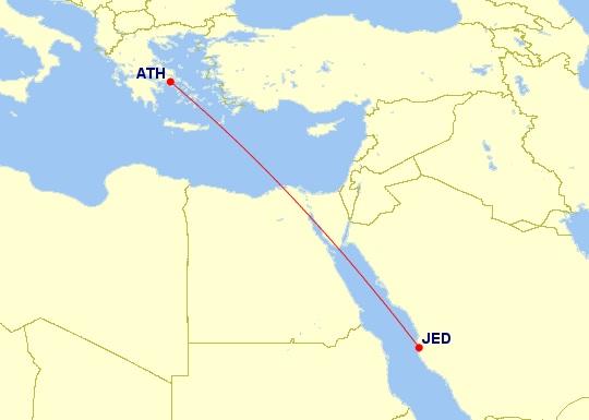 athens jeddah flight saudia