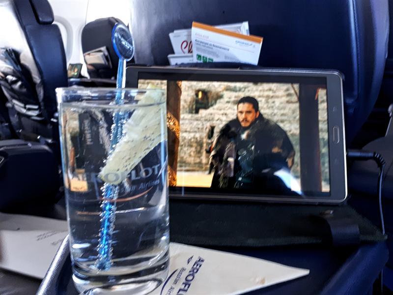gin tonic aeroflot business class moscow paris review jon snow