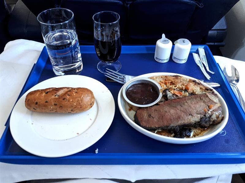 aeroflot business class moscow paris review food meal