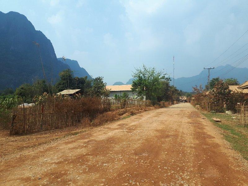 countryside road vang vieng laos