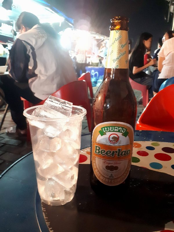 vientiane night market food trip report beer lao