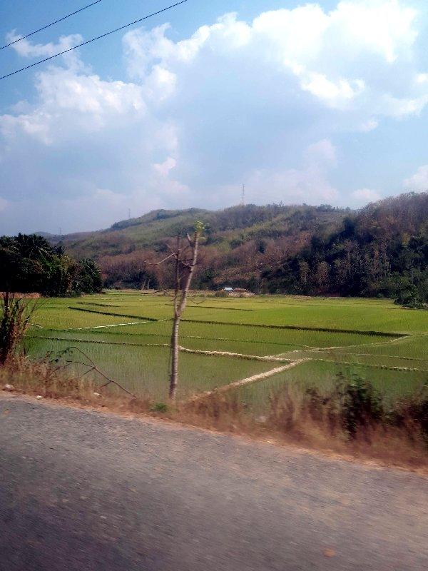 scenery bus laos ticket