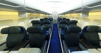 azerbaijan airlines azal business class cabin seat review