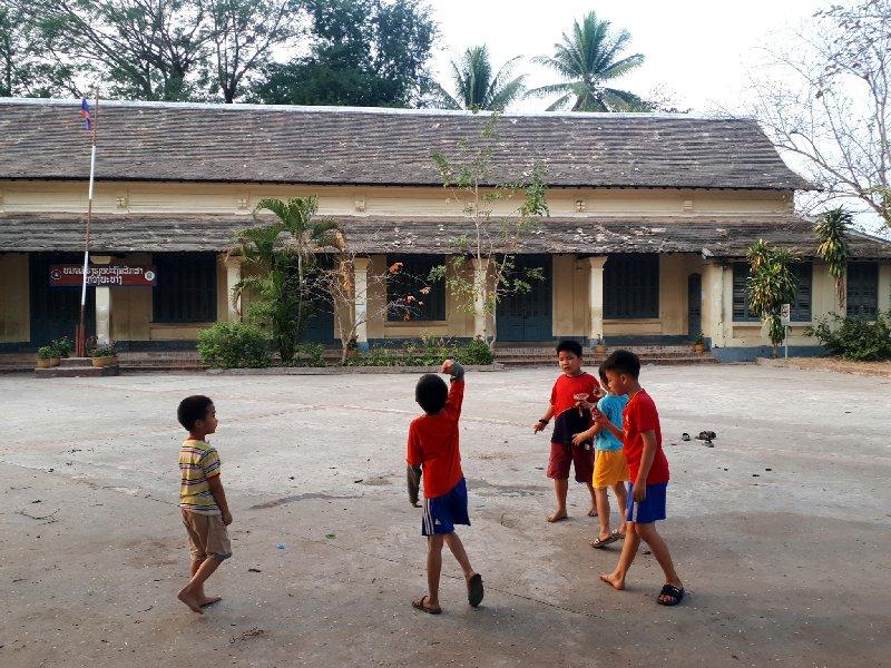 schoolyard lao children
