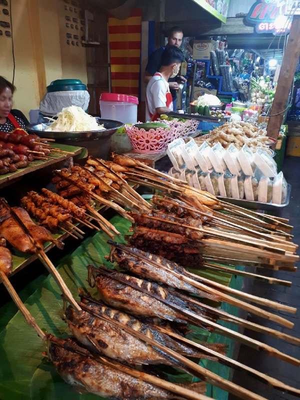 food street hawker stall luang prabang market