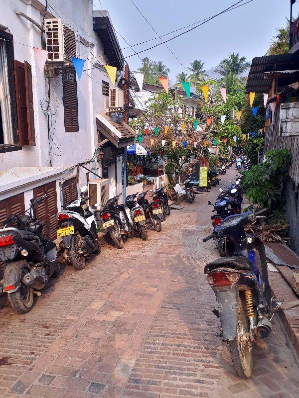 luang prabang street alley