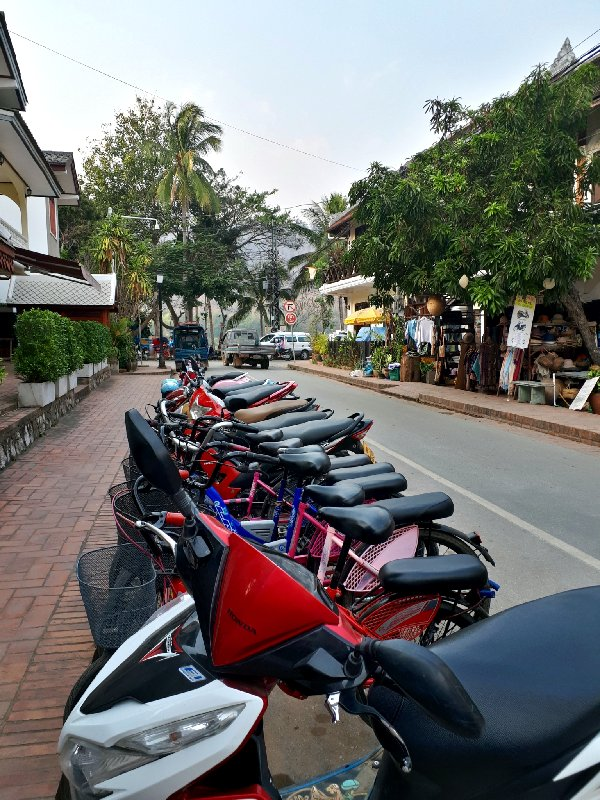 scooters luang prabang old town