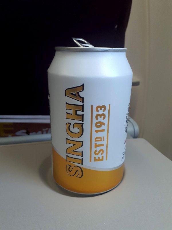 thai smiles alcohol singha beer