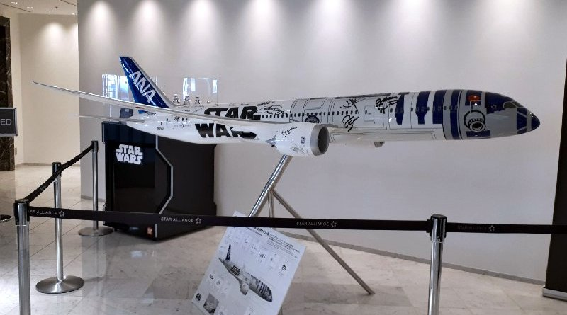 ana boeing 787 model plane star wars