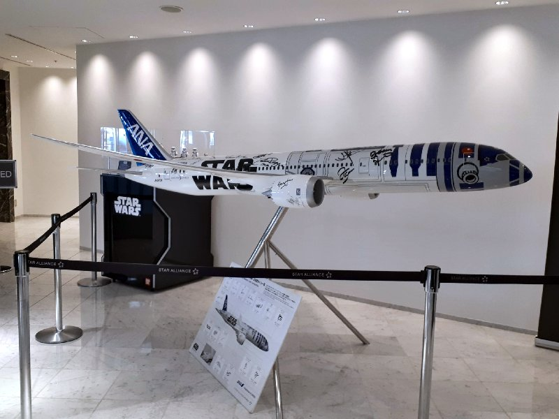 ana boeing 787 model plane star wars