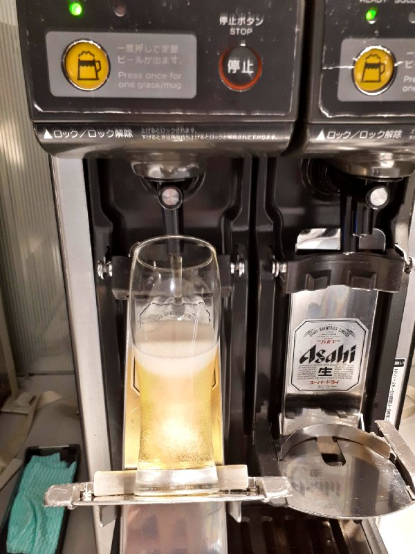 asahi draught beer machine