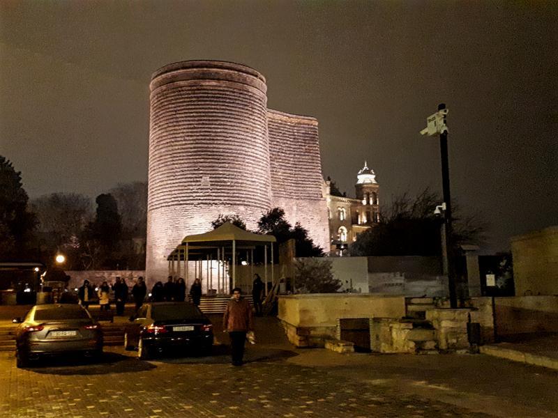 maiden tower baku old town