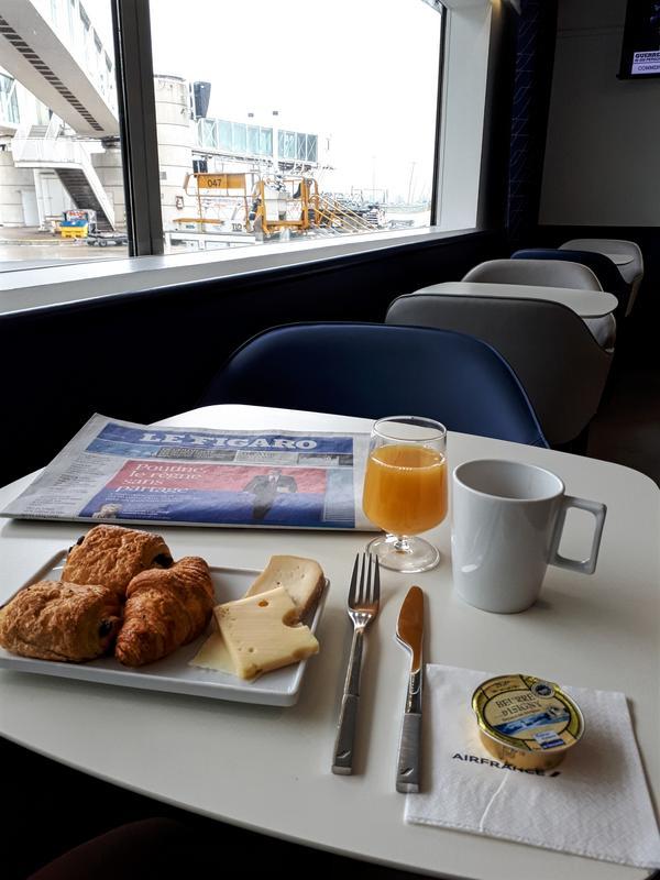 air france lounge breakfast