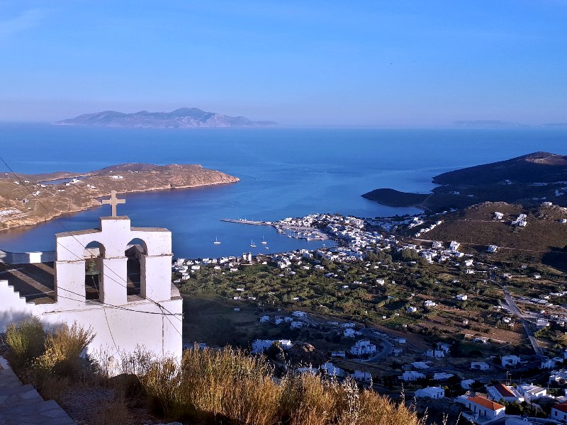 sunset view hora serifos livadi guide