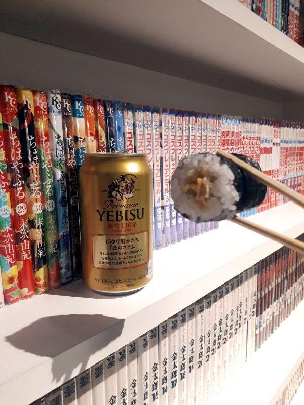 sushi beer japan