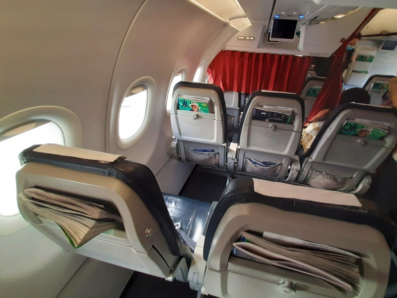 seat aegean airlines a320-200 economy class review