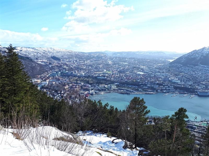 mount Fløyen view bergen