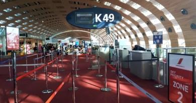 paris cdg terminal 2e hall k boarding bogota