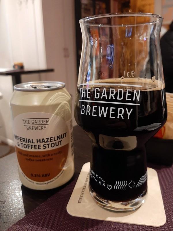 imperial hazelnut toffee stout garden brewery
