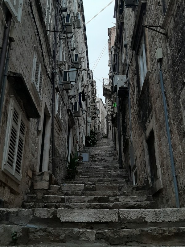 steep street old town steps stairs