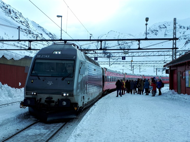 intercity train myrdal norway railways